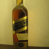 RARE whisky johnnie walker capacul din plastic, BLACK LABEL, cl 75 GR 40 ani 60