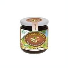 Crema de Ciocolata si Alune Bio fara Gluten Lactoza Soia La Mandorle 400gr Cod: 3760030722125