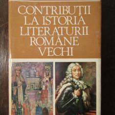 CONTRIBUTII LA ISTORIA LITERATURII ROMANE VECHI. DAN ZAMFIRESCU