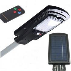 Cumpara ieftin Proiector 30w cu panou solar senzor de miscare, lumina metalic telecomanda
