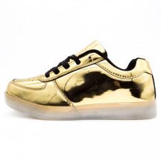 Incaltaminte casual/sport dama, Ucu Dima, Cod: Incaltaminte cu leduri gold (Culoare: Auriu, Marime Incaltaminte: 37) - Adidasi dama