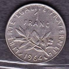 FRANTA 1964 - MONEDA 1 FRANC, Europa