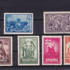 ROMANIA 1929 LP 82 - 10 ANI DE LA UNIREA TRANSILVANIEI SERIE MNH - Timbre Romania, Nestampilat