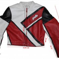 Geaca moto Polo, piele, protectii, dama, marimea 40(M) - Imbracaminte moto, Geci