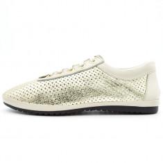 Pantofi Casual Dama Almare, Cod:3140 GOLD (Culoare: Auriu, Marime Incaltaminte: 39) - Pantof dama UCU Dima
