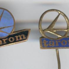 Aviatie - LOT 4 Insigne TAROM - variante diferite, Romania 1970
