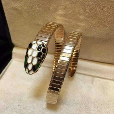 Bratara Bvlgari model Sarpe, inox+24K- Cadoul ideal !