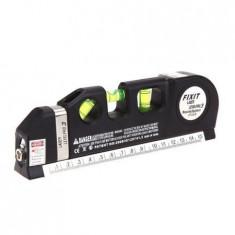 Nivela Laser cruce, orizontal si vertical, boloboc 3 bule, ruleta 2.5m - Nivela laser cu linii