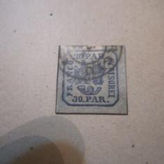 Timbru cap de bour nu stiu anul probabil 1862, Stampilat