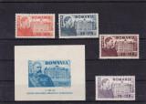 ROMANIA 1945 LP 166 SI LP 167  FUNDATIA CAROL  SERIE SI COLITA  MNH, Nestampilat