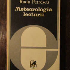 METEOROLOGIA LECTURII -RADU PETRESCU - Studiu literar