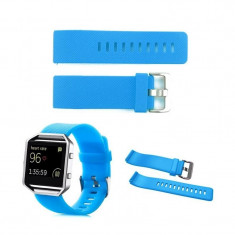 Bratara TPU Silicon pentru Fitbit Blaze Culoare Albastru deschis, Mărime L - Bratara fitness