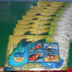 set timbre romania 10colite 2007 fauna din marea neagra