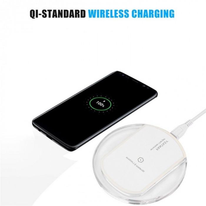 Încărcător Qi Wireless Samsung Galaxy S8 și S8 Plu Culoare Alb foto mare