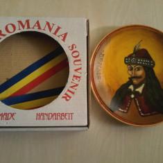 Suvenir tablou(farfurie) artizanat   Dracula Romania handmade