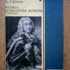George Calinescu – Istoria literaturii romane {compendiu}