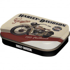 Cutie metalica VINTAGE cu bomboane - Harley Davidson Flathead
