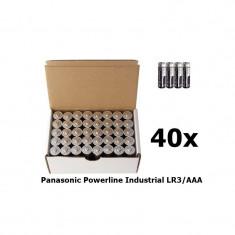 40x Panasonic Powerline Industrial LR3/AAA BULK
