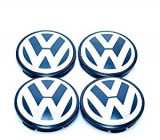 Set 4 buc. capace jante cu logo VW, Ø = 68mm (BLUE)