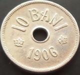Moneda 10 Bani - ROMANIA, anul 1906 J  *cod 2044