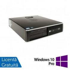 Calculator HP 8200 Elite SFF, Intel Core i3-2100 3.1GHz, 4GB DDR3, 160GB SATA, DVD-ROM + Windows 10 Pro - Monitor LCD