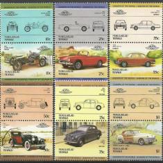 Nukulaelae-Tuvalu 1985 - automobile, serie neuzata - Timbre straine