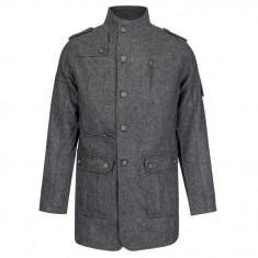 Palton Barbati Lee Cooper 80% lana marimea L- reducere maxima la ultima bucata - Geaca barbati Lee Cooper, Marime: L, Culoare: Din imagine