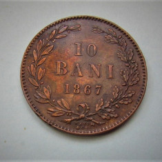 V- 10 bani 1867 Watt!Superb - Moneda Romania