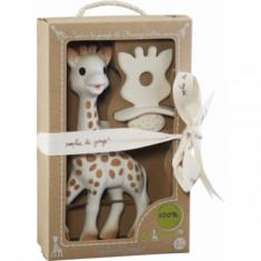 Set Girafa Sophie si figurina din cauciuc pentru rontait So Pure Vulli - Jucarie interactiva