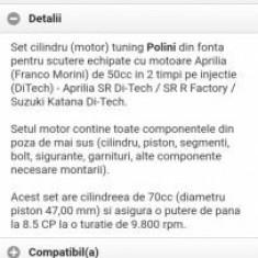 Set motor polini 70cm aprilia s50 ditech Suzuki katana - Set cilindri Moto