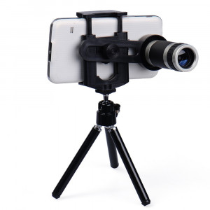 Telescop zoom 8X + mini trepied pt telefonul mobil iPhone Samsung HTC LG OnePlus