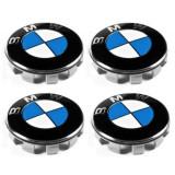 Set 4 buc. capace jante cu logo BMW, Ø = 68mm (BLUE)
