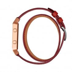 Brățară Infinity din piele ecologică pentru Fitbit Culoare Roșu - Bratara fitness