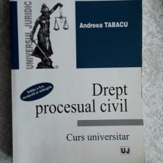 Drept Procesual Civil - ANDREEA Tabacu STARE FOARTE BUNA . - Carte Drept procesual civil