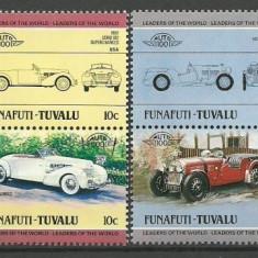 Funafuti-Tuvalu 1984 - automobile, serie neuzata - Timbre straine