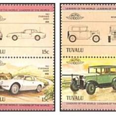 Tuvalu 1984 - automobile, serie neuzata - Timbre straine