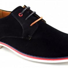 Pantofi barbatesti negri cu talpa alba, Marime: 40