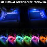 Lumini INTERIOR LED - RGB pentru interior cu telecomanda (4 benzi de 22 cm)