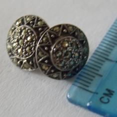 Cercei argint cu marcasite -2319
