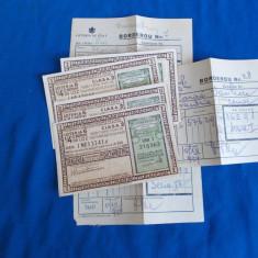 LOT 4 BILETE LOTERIA DE STAT ROMANIA : LOTERIA 6, CLASA 2 - 15 DECEMVRIE 1934 - Bilet Loterie Numismatica