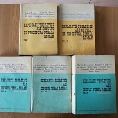 Explicatii teoretice ale codului de procedura penala/Ale Codului Penal- 5 volume - Carte Drept penal