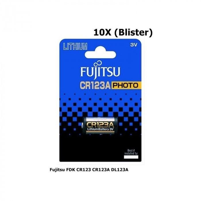 Fujitsu FDK CR123 CR123A DL123A baterie cu litiu Conţinutul pachetului 10x Blistere foto mare
