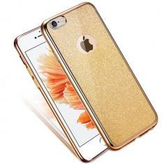 Husa iPhone 7 - Cu Sclipici Aurie - Husa Telefon