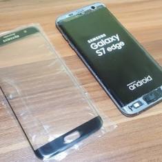 Geam Samsung Galaxy S7 edge negru nou - Geam carcasa