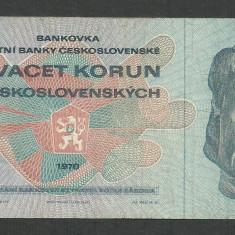 CEHOSLOVACIA 20 COROANE KORUN 1970 [1] P-92 - bancnota europa