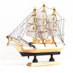 MACHETA CORABIE CU PANZE 14 cm - Macheta Navala