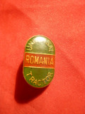 Insigna Universal Tractor , h= 2,2 cm , metal si email