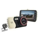 Camera Full HD 1080P Camera Dubla G-senzor 4 inch IPS + 170 Degree, SD card 16GB
