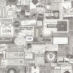 Rola tapet Souvenir Vintage Tags 52 cm x 10 m