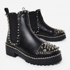 Pantofi EGO originali, piele, colectie noua, 41 - Gheata dama, Culoare: Negru, Piele naturala
